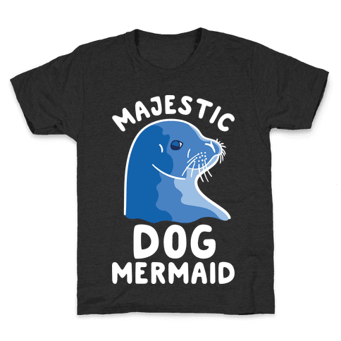 Majestic Dog Mermaid Kids T-Shirt