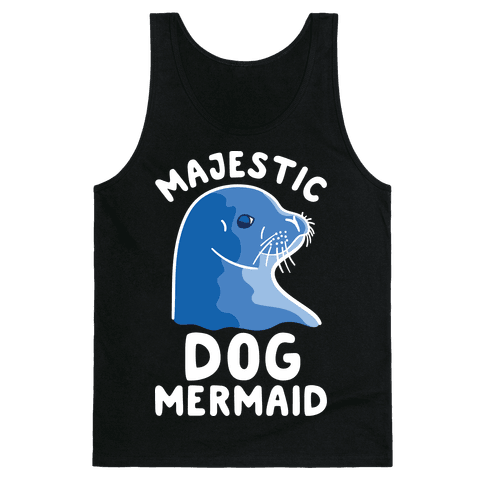 Majestic Dog Mermaid Tank Top