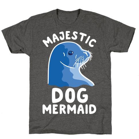 Majestic Dog Mermaid T-Shirt
