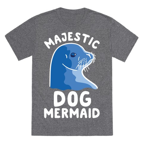Majestic Dog Mermaid T-Shirt