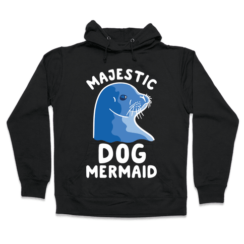 Majestic Dog Mermaid Hooded Sweatshirt