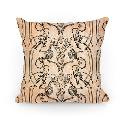 Jersey Devil Skeleton Pillow