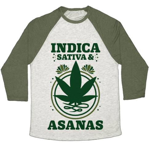 Indica, Sativa, & Asanas Baseball Tee