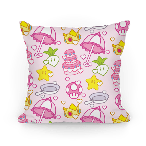 Peach Inventory Items Pillow
