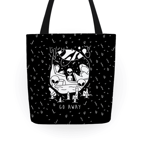 Go Away Aliens Tote