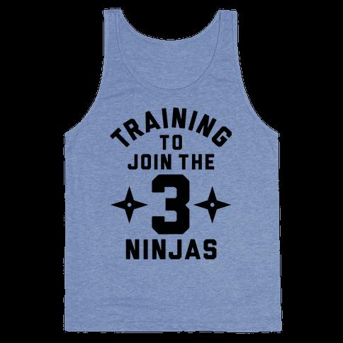 Training To Join The 3 Ninjas Tank Top