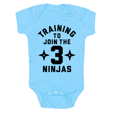 Training To Join The 3 Ninjas Baby Onesy