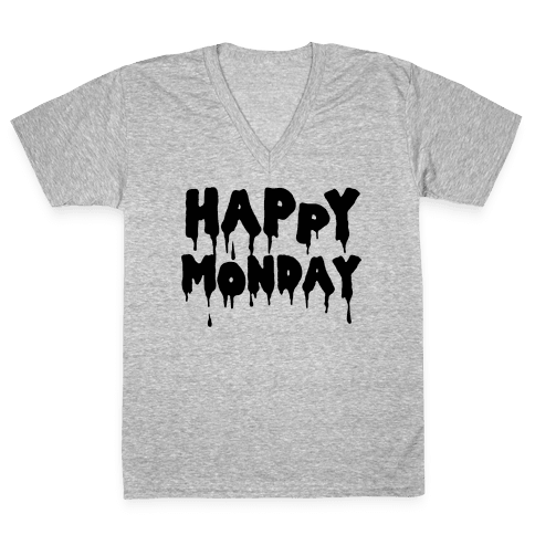 Happy Monday V-Neck Tee Shirt