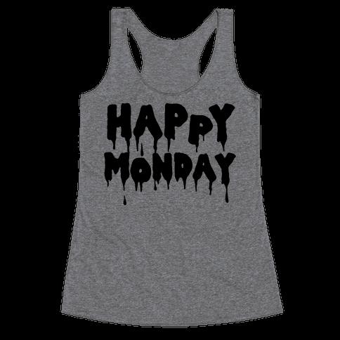 Happy Monday Racerback Tank Top