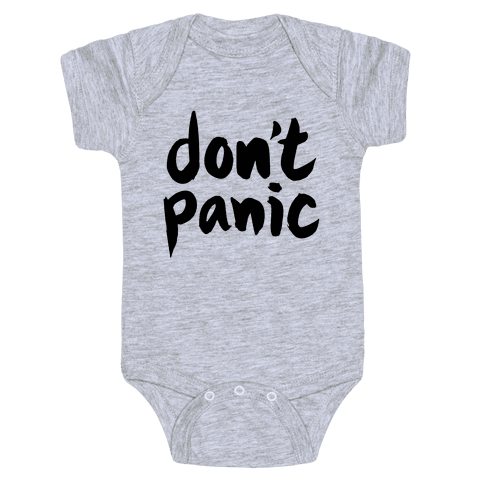 Don't Panic Baby Onesy