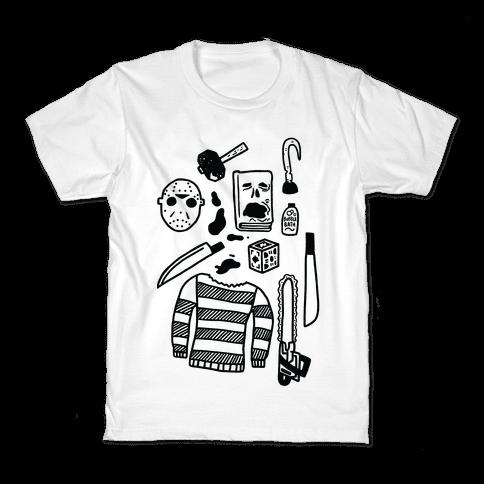 Slasher Slumber Party Kit Kids T-Shirt