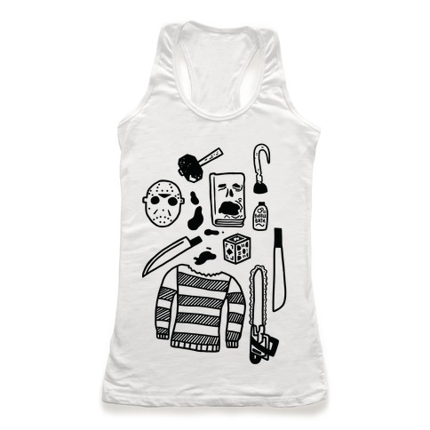 Slasher Slumber Party Kit Racerback Tank Top