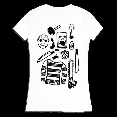 Slasher Slumber Party Kit Womens T-Shirt