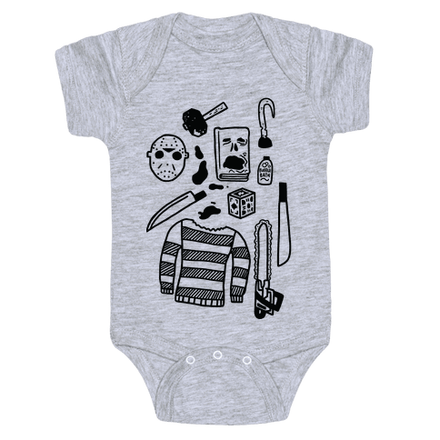 Slasher Slumber Party Kit Baby Onesy