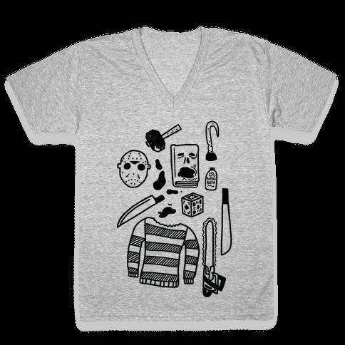 Slasher Slumber Party Kit V-Neck Tee Shirt