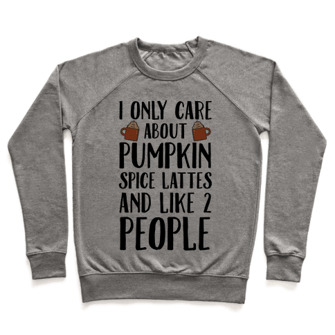 I Only Care About Pumpkin Spice Lattes And Like 2 People Pullover