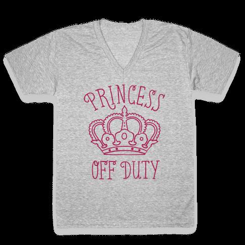 Princess Off Duty V-Neck Tee Shirt