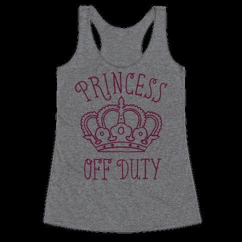 Princess Off Duty Racerback Tank Top
