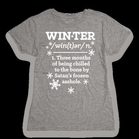 Winter Definition Womens T-Shirt