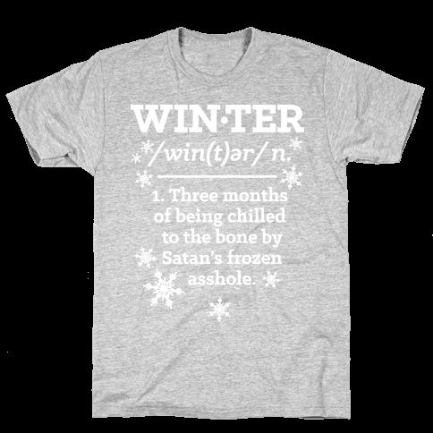 Winter Definition Mens T-Shirt