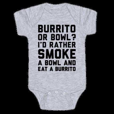 Burrito or Bowl? Baby Onesy
