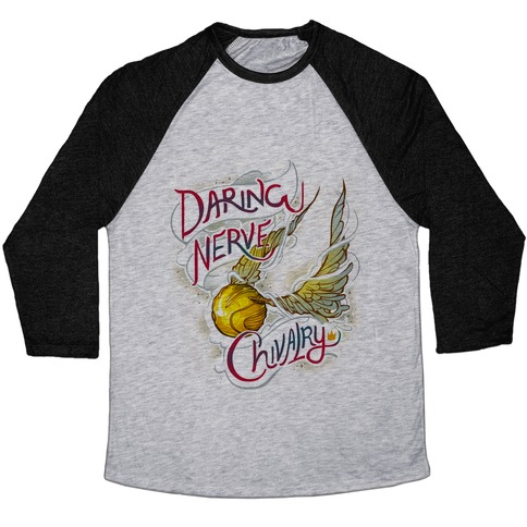 Hogwarts Golden Snitch Baseball Tee