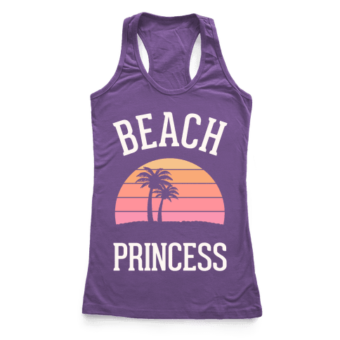 Beach Princess  Racerback Tank Top