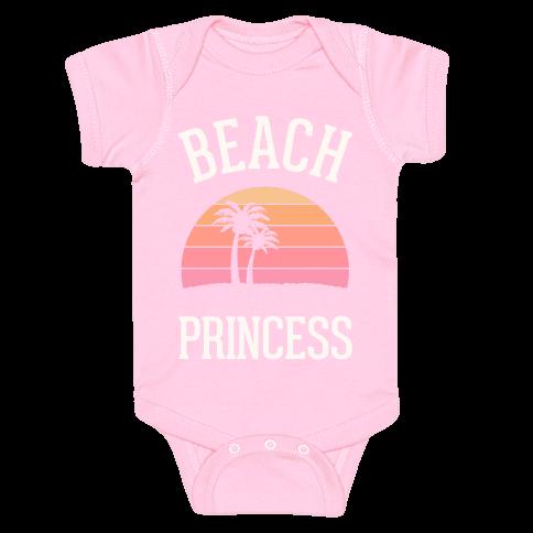 Beach Princess Baby Onesy