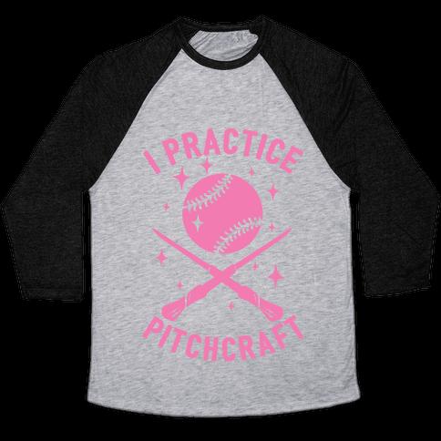 I Practice Pitchcraft Baseball Tee