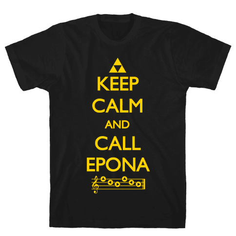 Keep Calm And Call Epona Mens T-Shirt