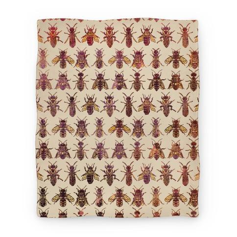 Bee Species Pattern Blanket