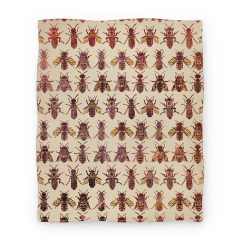 Bee Species Pattern Blanket
