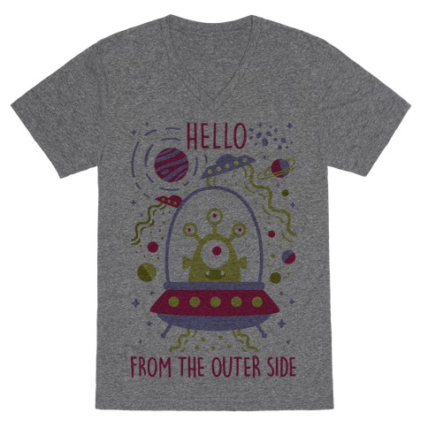 Hello From The Outer Side V-Neck Tee Shirt