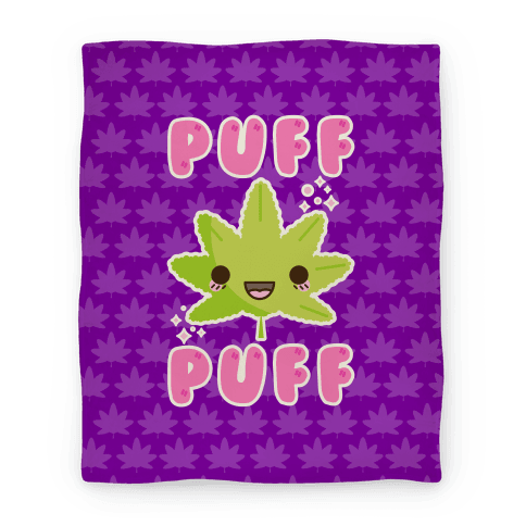 Puff Puff The Kawaii Pot Leaf Blanket