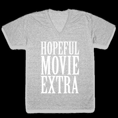 Hopeful Movie Extra V-Neck Tee Shirt