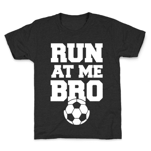 Run At Me Bro (White Ink) Kids T-Shirt