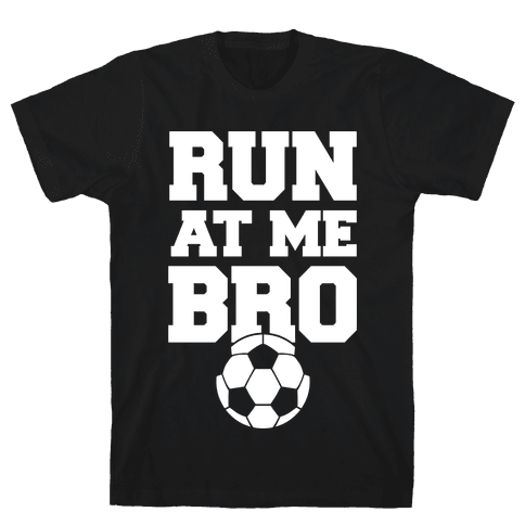 Run At Me Bro (White Ink) Mens T-Shirt