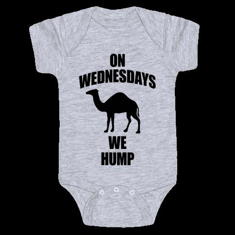 On Wednesdays We Hump Baby Onesy