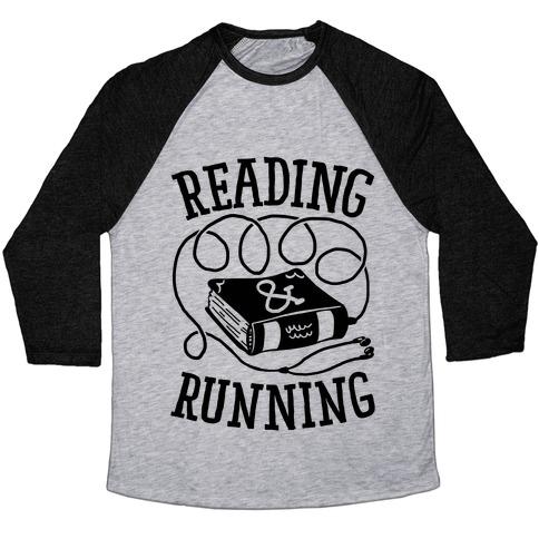 Reading & Running Baseball Tee