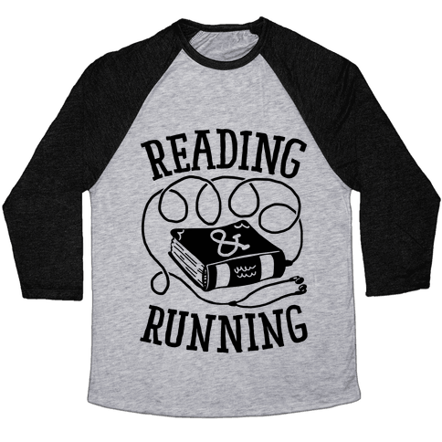 Reading & Running Baseball Tee