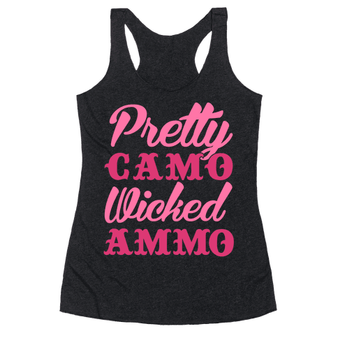 Pretty Camo Wicked Ammo Racerback Tank Top