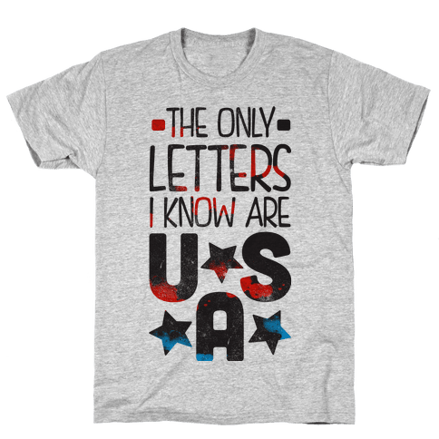 The Only Letters Are USA (Tank) Mens T-Shirt