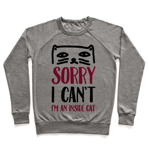 Sorry I Can't I'm Inside Cat Pullover
