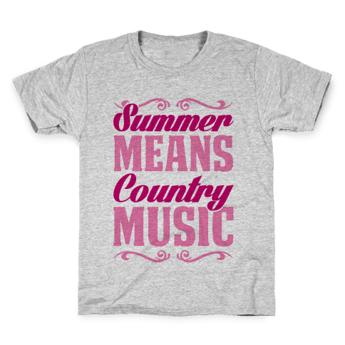Summer Means Country Music Kids T-Shirt