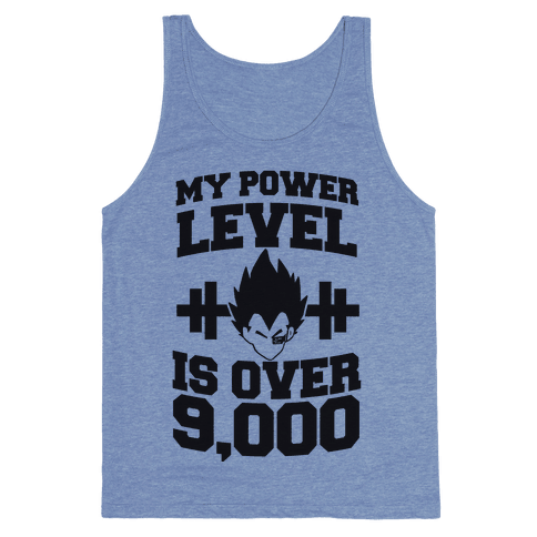 My Power Level is Over 9,000 Tank Top
