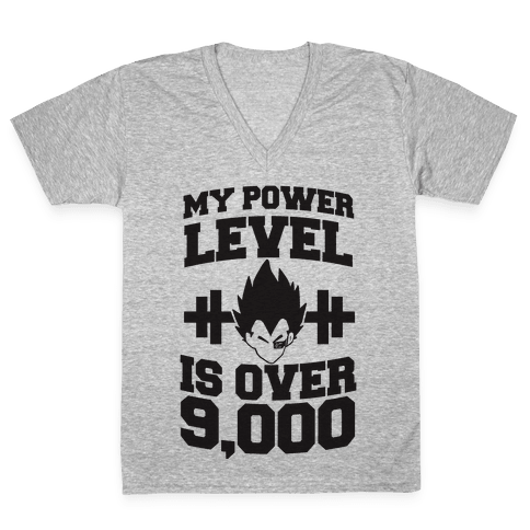 My Power Level is Over 9,000 V-Neck Tee Shirt