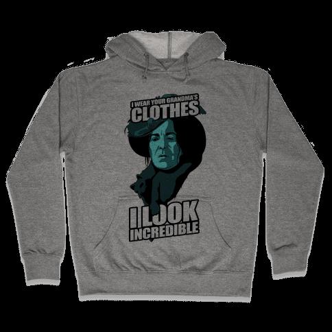 I Wear Your Grandma's Clothes Hooded Sweatshirt