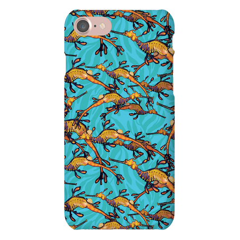 Weedy Sea Dragon Nautical Pattern Phone Case