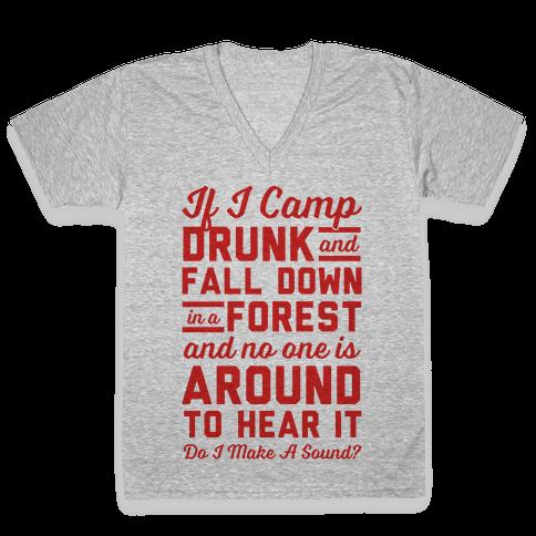 If I Camp Drunk V-Neck Tee Shirt