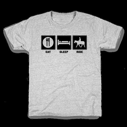 Eat. Sleep. Ride Kids T-Shirt